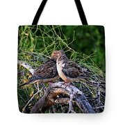 Two Mourning Doves H14 Tote Bag