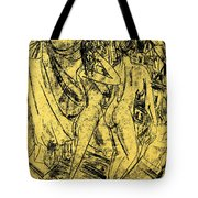 Two Nudes At The Window Tote Bag