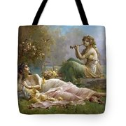 Two Nymphs By The Water Hans Zatzka Tote Bag