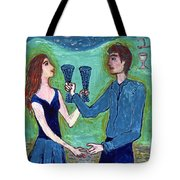Two Of Cups Illustrated Tote Bag