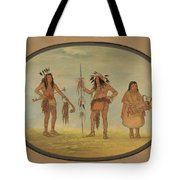 Two Ojibbeway Warriors And A Woman Tote Bag