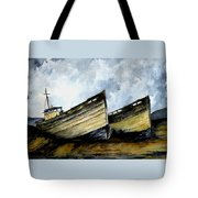 Two Old Boats Tote Bag