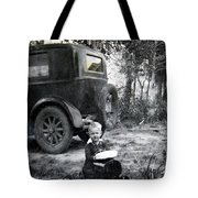 Two Old Cars Tote Bag