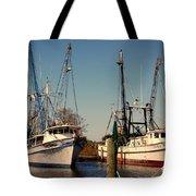 Two Old Shrimpboats Tote Bag