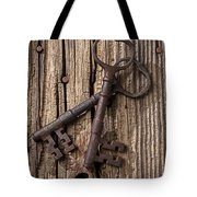 Two Old Skeletons Keys Tote Bag