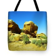 Two Orange Rocks Tote Bag