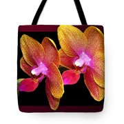 Two Orchids And A Bud Tote Bag