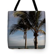 Two Palms And The Gulf Of Mexico Tote Bag