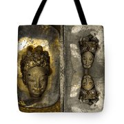 Two Part Panel Tote Bag