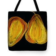 Two Pears - Yellow Gold Fruit Food Art Tote Bag by Sharon Cummings