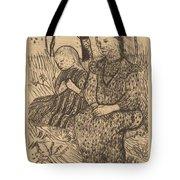 Two Peasant Girls Tote Bag
