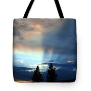 Two-pine Sunset Tote Bag