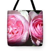 Two Pink Roses Tote Bag