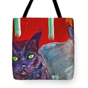 Two Posh Cats Tote Bag