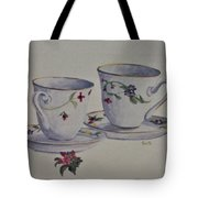 Two Pretty Teacups Tote Bag