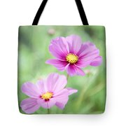 Two Purple Cosmos Flowers Tote Bag