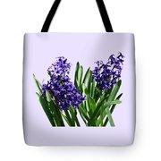 Two Purple Hyacinths Tote Bag