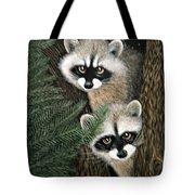 Two Raccoons Tote Bag