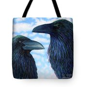 Two Ravens Tote Bag