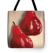 Two Red Pears Tote Bag