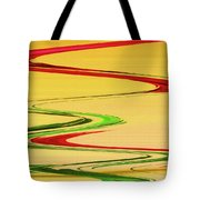 Two Red Roses Abstract Tote Bag