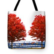 Two Red Trees Tote Bag
