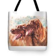 Two Redheads Tote Bag by Debra Jones