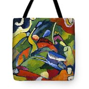 Two Riders And Reclining Figure Tote Bag