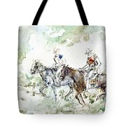 Two Riders Tote Bag