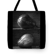 Two Ripe Pears In Black And White Tote Bag