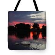 Two Rocks Sunset In Prosser Tote Bag