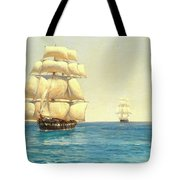 Two Royal Navy Corvettes On Patrol In The Southern Ocean Tote Bag