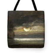 Two Sailing Boats By Moonlight Tote Bag