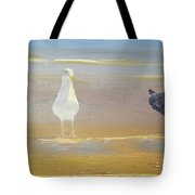 Two Seagulls Wondering Where The Chips Have Gone Tote Bag