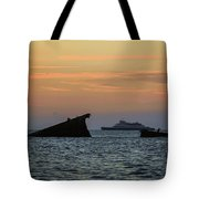 Two Ships Sunset Beach Cape May Nj Tote Bag