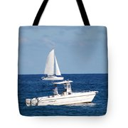 Two Ships That Pass Thru The Day Tote Bag