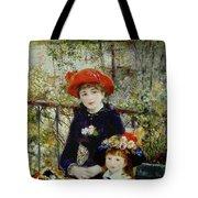 Two Sisters Tote Bag by Pierre Auguste Renoir