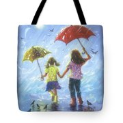 Two Sisters Rain Blond Little Sister Tote Bag