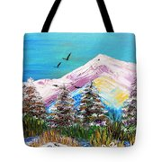 Two Soaring Birds Tote Bag