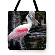 Two Spoonbills Tote Bag