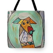 Two Star Greyhound Tote Bag