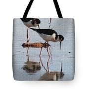 Two Stilts Walk The Pond Tote Bag