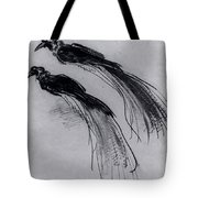 Two Studies Of A Bird Of Paradise 1630 Tote Bag