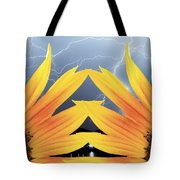 Two Sunflower Lightning Storm Tote Bag by James BO  Insogna