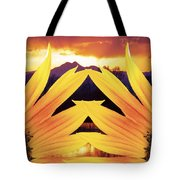 Two Sunflower Sunset Tote Bag