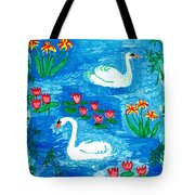Two Swans Tote Bag by Sushila Burgess