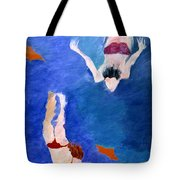 Two Swimmers Tote Bag