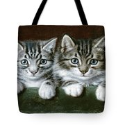 Two Tabby Kittens  Tote Bag