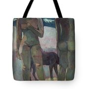 Two Tahitian Women On The Beach Tote Bag