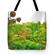 Two Thistles In The Garden Of The Simple Tote Bag